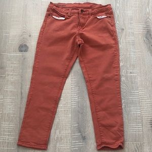 JcPenney Brand coral skinny jeans